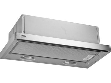 Flachschirmhaube, 59.8x18x28 cm (BxHxT), Energieeffizienzklasse D, BEKO, Material Edelstahl, Aluminium, spülmaschinengeeignet