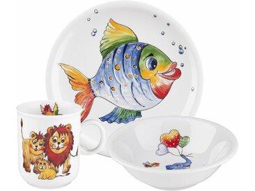 Kindergeschirr-Set, mehrfarbig, Material Porzellan »Compact Bunte Tierwelt«, Seltmann Weiden, Motiv, spülmaschinenfest