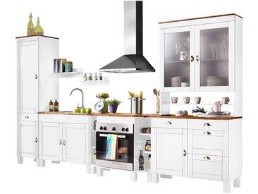 Home affaire  Küchen-Set , FSC®-zertifiziert, weiß, Material Metall / Kiefer »Oslo«»Oslo«