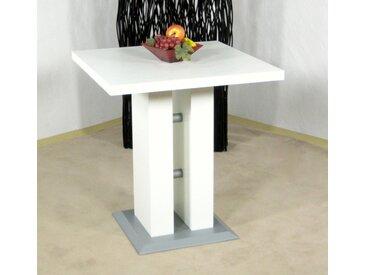 Säulen-Esstisch »Luxor«, 70x75x70 cm (BxHxT), FSC®-zertifiziert, Yourhome, weiß, Material Holzwerkstoff