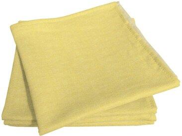 Stoffserviette »Uni Light Collection«, gelb, 30x30cm, pflegeleicht, , , Adam