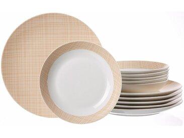 Tafel-Service  , beige, Material Porzellan »DANA«, Ritzenhoff & Breker, gemustert, Motiv, spülmaschinengeeignet