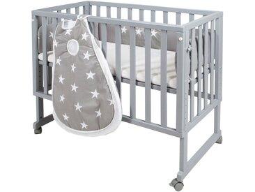 Stubenbett , grau, Liegefläche: 45 x 90cm, »safe asleep® 3-in-1 Little Stars«, Roba®