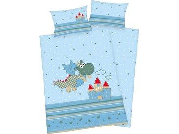 Kinderbettwäsche , 1x 40x60 cm, blau, Material Baumwolle »Kleiner Drache«, Baby Best, bedruckt, Motiv
