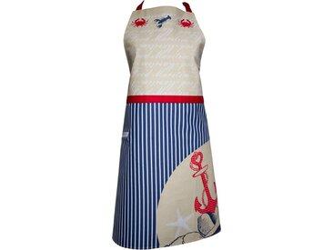 Kochschürze , blau, Öko-Tex-Zertifikat, »Nautica«, , , stuco