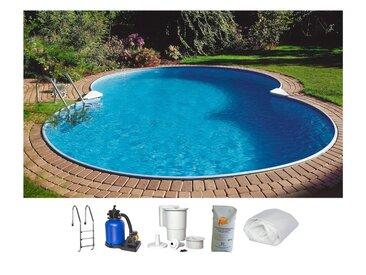 Achtformpool »Standard«, 300x470x120 cm (BxLxH), Clear Pool, Material Edelstahl