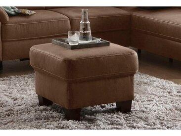 Home affaire Polsterhocker, Landhaus-Stil, braun, 58 cm, bis 50 cm, 48 cm, 51 cm, frei stellbar