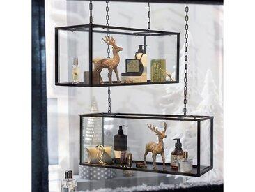 Vitrine, 58x24x22 cm (BxHxT), Schneider, Material Eisen, Glas