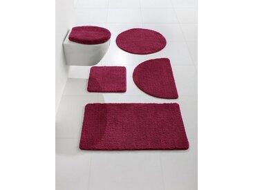 Badezimmer-Garnitur mit abgerundeten Ecken, rot, Material Polyester, heine home