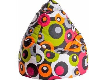 Sitz-Sack  »Malibu L«, orange, Material Baumwolle / Polystyrol, Sitting Point