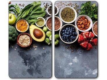 Schneide- und Abdeck-Platte  »Healthy Kitchen«, grau, KESPER for kitchen & home