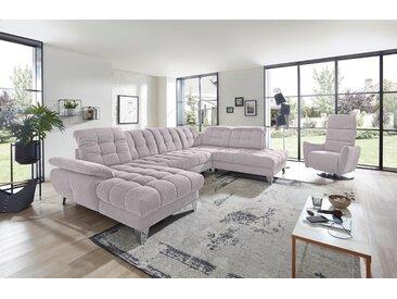 Places of Style Wohnlandschaft »Bardi«, mit Sitztiefenverstellung wahlweise mit Bettfunktion und Bettkasten, Kopfteil- und Armlehnverstellung