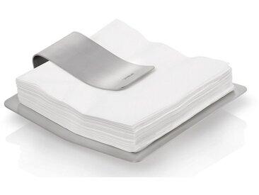 Serviettenhalter , silber, 19,5 x 19 x 5,5 cm, »SCUDO«, BLOMUS