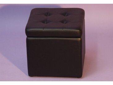 Sitzwürfel, 41x40x41 cm (BxHxT), Yourhome, schwarz, Material Stoff