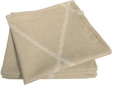 Stoffserviette, beige, Material Bio-Baumwolle »Casket Valdelana Light«, Adam