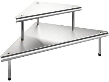 Ablageregal , 48,5x48,5x31 cm, silber, Material Edelstahl »Massivo Duo«, WENKO