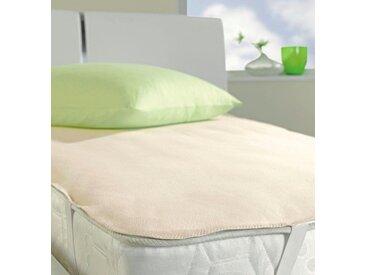 Matratzen Auflage , , 0,5 cm hoch, Baumwolle, weiß, Material Baumwolle »Pure 5514«, IBENA, atmungsaktiv