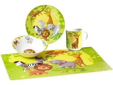 Kindergeschirr-Set, mehrfarbig, Material Porzellan »Dschungeltiere«, Ritzenhoff & Breker, Motiv, spülmaschinenfest