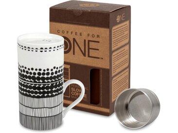 Könitz Kaffeebereiter Coffee for one - Fell de Moment, 0,37l Kaffeekanne, Porzellan