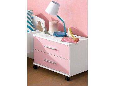Nachtkommode »AikExtra«, 50x38x41 cm, rosa, rauch BLUE, Unifarben, mit Schubkästen