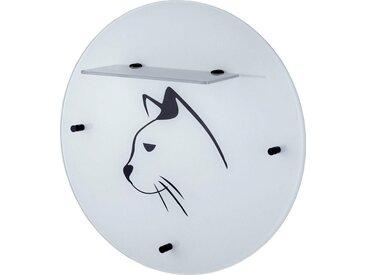 Garderobenpaneel, weiß »Katze«, GGG MÖBEL