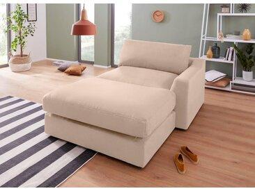 sit&more  Chaiselongue, Récamiere rechts oder links, beige
