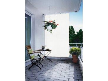 Balkonsichtschutz, 140x140x230 cm (BxLxH), Floracord, weiß, Material Polyacryl