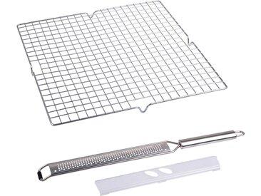 Küchenrost , 3er Set, silber, Material Edelstahl »EasyDo«, ChG