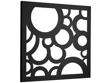 Wandgarderobe und Memoboard in Einem, schwarz, Material Metall, heine home