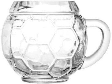 Bierkrug  , Material Glas »Fußball«, Stölzle,  spülmaschinenfest
