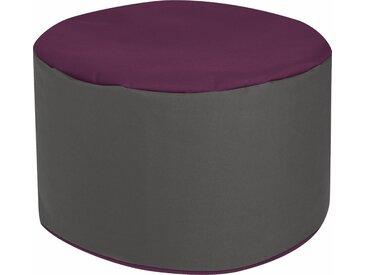 Sitzhocker, lila, Material Polystyrol / Polyester »DotCom Bebop SCUBA«, Magma Heimtex