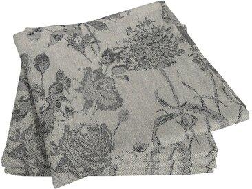 Stoffserviette, schwarz, Material Bio-Baumwolle »Flower Cuveé Light«, Adam