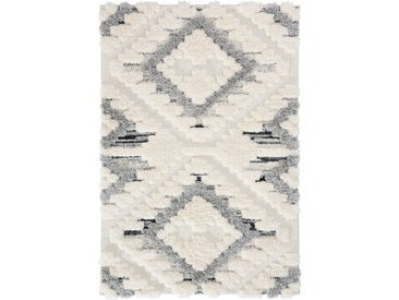 160x230 cm Deluxe Shaggy Teppich   Weiss Boho Bahama   MY8831