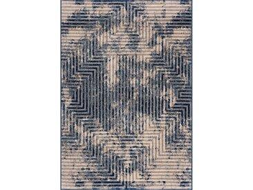 160x230 cm Kurzflor Teppich Fancy Blau M3760