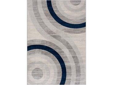 160x230 cm Kurzflor Teppich Circle Blau M3762