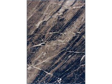 160x230 cm Kurzflor Teppich Marmeren Blau M3756