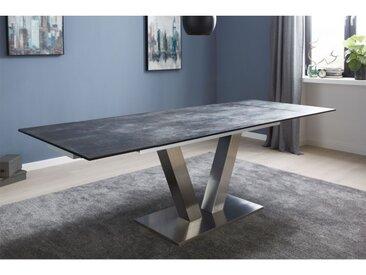 Tisch Platte Oxydo Darknight Glaskeramik ca. 160 (200/240) x 76 x 90 cm
