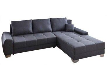 Ecksofa TAMPERE mit Schlaffunktion 270 x 190 cm Stoffbezug grau
