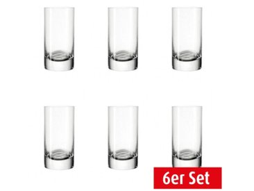 LEONARDO 6er Set Schnapsglas / Stamper Mini EASY+ 50 ml
