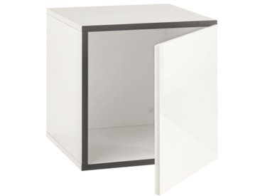 Now! by hülsta Box TO GO Schneeweiß/Hochglanz Lack Reinweiß ca. 38 x 38 x 39 cm