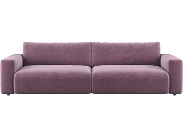Gallery M | Lucia | Big Sofa 3-Sitzer, Samt-Rosewood(PG8), B 292, T 124, H 81 cm