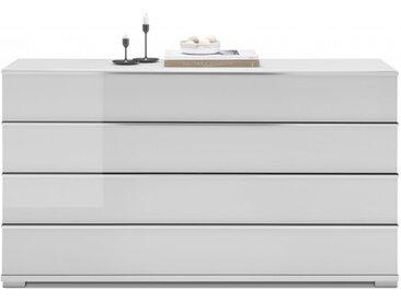 Gallery M | Imola W | Kommode, Fronten: Weißglas (057) | Korpus: folienbeschichtet Spanplatte weiß, B 149, H 82, T 42 cm