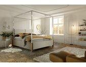 My Heaven | Himmelbett, Stoff D522 beige, B 160 bis 200, H 204, T 215 cm
