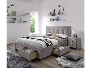 Stylefy Evora Polsterbett 111x164x215 cm Beige