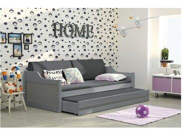 Stylefy Tore Funktionsbett 80x190 cm Graphit Graphit