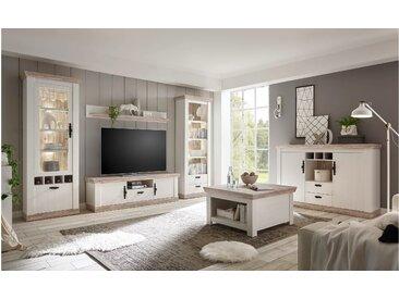 Stylefy Samwell Wohnzimmerset Pinie Weiß   Pinie