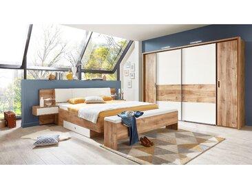 Stylefy Maria Schlafzimmerset Plankeneiche Weiß