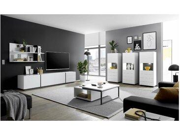 Stylefy Kairo Wohnzimmerset IX Weiß Matt Grau
