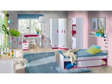 Stylefy Taira V Kinderzimmer-Set Weiß Rosa