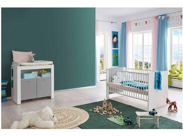 Stylefy Kamali Kinderzimmer-Set Weiß Grau